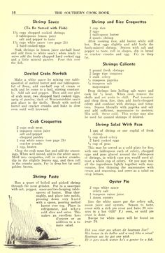 The Southern cook book of fine old recipes Retro Recipes, Old Recipes, Water Recipes, Vintage Recipes, Cookbook Recipes, Fish Recipes, Seafood Recipes, Cooking Recipes, How To Cook Rice