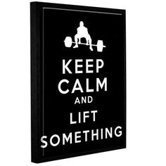 ArtWall Keep Calm and Lift Something by Art D Signer Kcco Framed Textual Art on Wrapped Canvas Size: