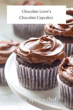 Chocolate Lover's Chocolate Cupcakes
