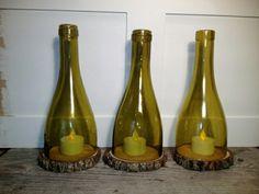 Bastelideen für DIY Projekte aus Weinflaschen baum