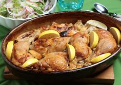 Pot Roast, Paella, Potato Salad, Pork, Potatoes, Lunch, Meat, Chicken, Ethnic Recipes
