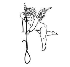An angel wanting to kill u - tattoo sketches Tattoo Sketches, Tattoo Drawings, Art Sketches, Art Drawings, Future Tattoos, New Tattoos, Body Art Tattoos, Tattoo Studio, Backpiece Tattoo