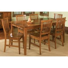 Have to have it. Home Styles Arts and Crafts 7 Piece Dining Set - Cottage Oak - $819.99 @hayneedle