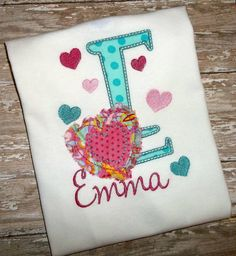 Valentine Shabby Heart with Initial by BlumersEmbroidery on Etsy https://www.etsy.com/listing/268433438/valentine-shabby-heart-with-initial?ref=shop_home_active_6 Facebook:  BlumersOfTexas