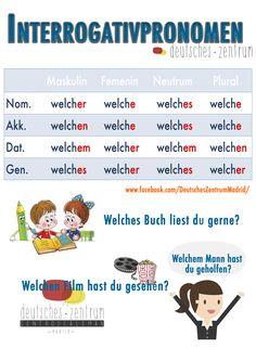 Welche Deutsch Wortschatz Grammatik Alemán German DAF