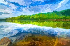 Lanjee Chee - Beautiful landscape with turquoise lake
