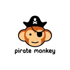 pirate monkey | Logo Design Gallery Inspiration | LogoMix