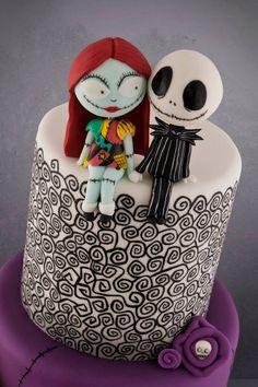 Beautiful Nightmare Before Christmas cake