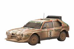 Lancia S4 Rally San Remo 1986 Cerrato/Cerri #8 Muddy Version 1/18 by Autoart 88619. High quality collectable model.