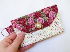 Itty Bitty Floral Pouch  This pouch holds my loose change and keys.  Take yours home today:  https://www.etsy.com/listing/240297928/itty-bitty-floral-pouch?ref=shop_home_active_3