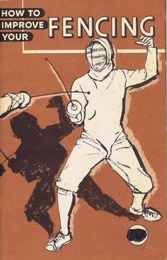 Vintage Book Cover Art - Fencing, Sports Theme.