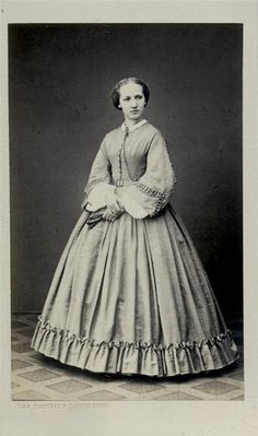 CDV, unidentified subject, studio of Overbeck of Dusseldorf (Germany). | In the Swan's Shadow