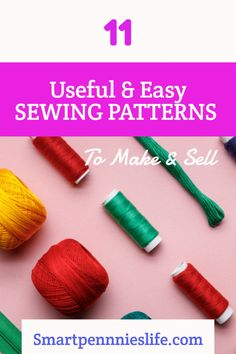 11 Easy FREE patterns to make and sell. Tutorials using fabric scraps for easy projects to sell. Diy Projects To Sell, Easy Sewing Projects, Sewing Projects For Beginners, Sewing Tutorials, Money Making Crafts, Crafts To Make And Sell, Easy Diy Crafts, How To Make, Craft Business