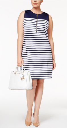 Plus Size Striped Sh