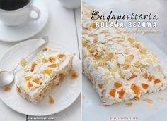 Budapesttårta - rolada bezowa z mandarynkami  www.maniapieczenia.com