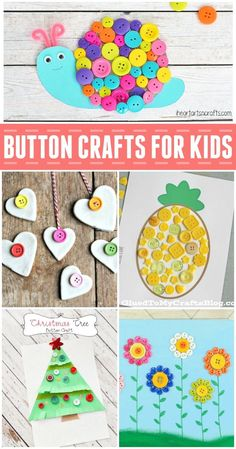 Looking for some fun kids craft ideas to use up some of those buttons you have…