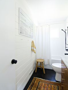Black White & Walnut bathroom | brittanyMakes