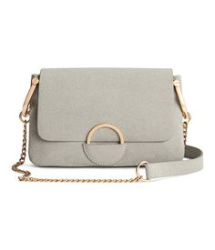00ddba96c2ab Small shoulder bag in regenerated leather with a narrow metal chain  shoulder strap