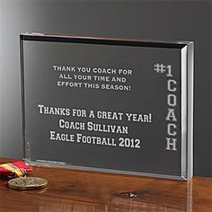 #1 Coachsup©/sup Personalized Keepsake