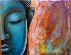 Step Another few layers to the background. (This look is achieved with a pouring medium and soft bodied acrylics by Liquidex) Buddha Painting, Buddha Art, Canvas Prints, Framed Prints, Art Prints, Step By Step Painting, Mixed Media Painting, Unique Art, Fine Art America