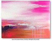 Pink Abstract Painting  by Lana