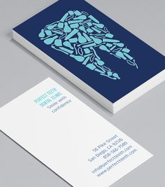 Friendly Dentist: dentists, dental hygienists and dental nurses probably hate giving their business cards out – nobody wants to sit in that chair! But you can take the fear factor out of the dentist with these non-threatening – and dare we say – friendly cards. #moocards #businesscard