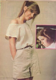 Carrie Fisher....idk why but she just rocks the crap out of these loose, super chill clothes