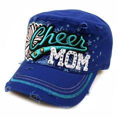 Royal Blue Cheer Mom Cadet Hat