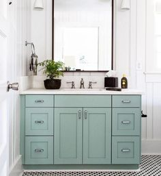 """""""In major need of redoing a couple of our bathrooms. Our powder bath & master bath especially. THIS for the powder bath. Pop of color is my favorite. Plus…"""""""