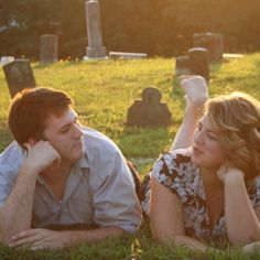 I'm not big on the cemetary setting, but I adore the pose.