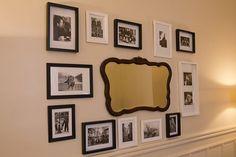 Las fotos nunca pasan de moda. Crear una composición con imágenes en blanco y negro puede generar un lindo concepto en un rincón de la casa. Foto:Ezequiel Muñoz