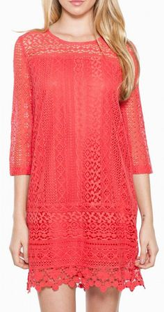 hailee dress in coral