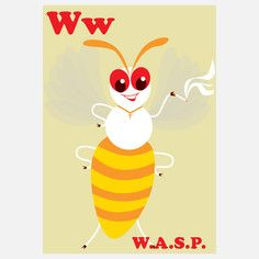W is for Wasp,  Limited Edition Prints by Mark McGinnis, Signed and Numbered