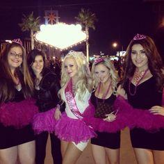 Bachelorette Party Las Vegas  Pink Tutus #bachelorette #vegas #lasvegassign