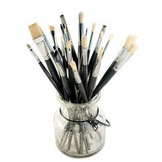 24 Piece Brush Set from Keyp creative #art #brushes http://www.keypcreative.com/