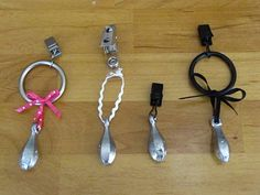 DIY Table Cloth Weights Shower Curtain Hooks With Clips Plus Fishing Lures