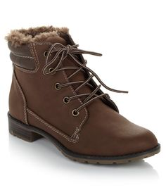 Trek the snowy streets with confidence in fashionable ankle boots that help keep your feet protected! The cozy faux fur detail provides the added warmth needed to brave those chilly days! Be sure to show 'em off with leggings or skinny jeans! Where would you sport these boots?