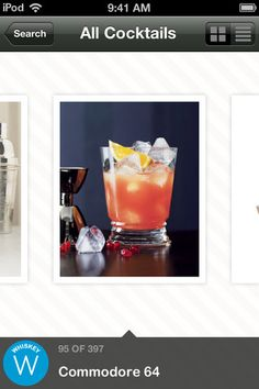 Food & Wine Cocktails http://itunes.apple.com/us/app/food-wine-cocktails/id520503449?mt=8# #apps #UI #UX #iPhone #digital