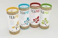 Teapot Packaging by Nadia Arioui, via Behance