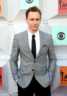 #TomHiddleston arrives at the 51st Academy of Country Music Awards at MGM Grand Garden Arena on April 3, 2016 in Las Vegas, Nevada.