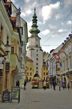 Bratislava, the capital city of Slovakia. So much culture, history and beautiful buildings.