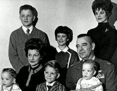 rare: Priscilla with her family in Germany before she came to spend Christmas with Elvis in 1960.