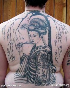 7d7bbe230 Japanese Geisha Tattoo On Back Body For Men Geisha Tattoo For Men, Japanese Geisha  Tattoo