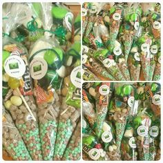 20 x Minecraft themed party bags/sweet cones party favours by CreativeOccasionsuk on Etsy