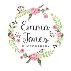 Floral Wreath Logo - Customized with Your Business Name! Name Design, Logo Design, Logo Couronne, Logo Floral, Pop Up Window, Wreath Drawing, Flower Frame, Unicorn Party, Botanical Illustration