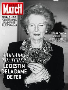 Margaret Thatcher en une de l'édition iPad de Paris Match n° 3334 daté du 11 avril 2013. Photo Helmut Newton.