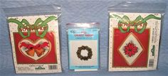 Traditions Cross Stitch Kit Christmas Novelty 2 kits Bells Poinsettia Frame Plus #Traditions