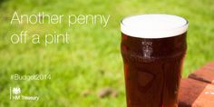 #Budget2014 announces that beer duty will be cut by another penny off a pint.