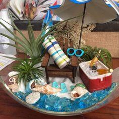 Rebecca Smith added a photo of their purchase Air Plant Terrarium, Garden Terrarium, Beach Fun, Beach Cooler, Air Plants Care, Beach Umbrella, Fairy Garden Accessories, Glass Globe, Diy Cards