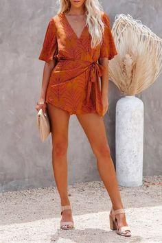 Summer Dress High Waist Elegant Pleated Mini Dresses Female 2021 Bandage Sexy V Neck Jumpsuit Mini Dresses, Club Dresses, Summer Dresses, Jumpsuit Outfit, Sexy, High Waist, Wrap Dress, Neckline, One Piece